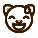 animal, avatar, cat, cute, emoji, emoticon, sorry icon