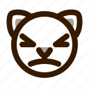 animal, avatar, cat, cute, emoji, emoticon, stunned icon