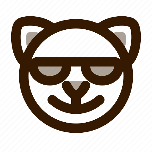 animal, avatar, cat, cute, emoji, emoticon, sunglasses icon