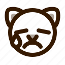 animal, avatar, cat, cute, emoji, emoticon, tear icon