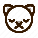 animal, avatar, cat, cute, emoji, emoticon, upset icon