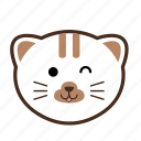 cat, emoticon, face icon
