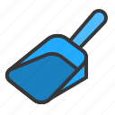 cat, clean, dustpan, litter scoop icon