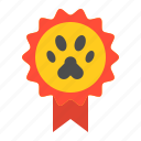 badge, cat, pedigree, prize icon