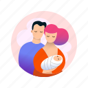 baby, child, dad, family, kid, mom, mother icon