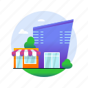locations, mall, market, shop, shopping, shopping center, store icon