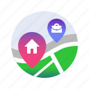 beauty saloon, cottage, country house, gym, house, parents, places icon