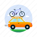 auto, bicycle, bike, car, scooter, transport, truck icon