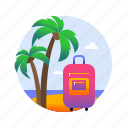 beach, holiday, sea, summer, sun, travels, vacation icon