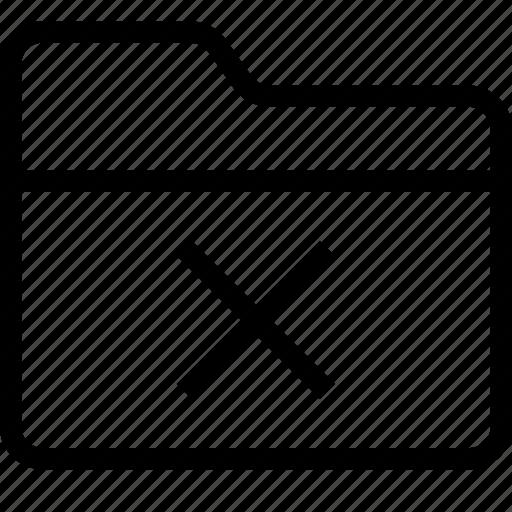 delete folder, folder, folder declined, hide folder, organize, remove folder icon