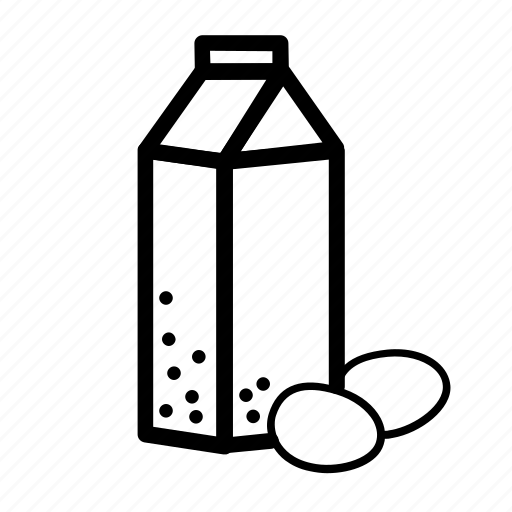 a carton of milk, cooking, eggs, food, ingredient, milk icon