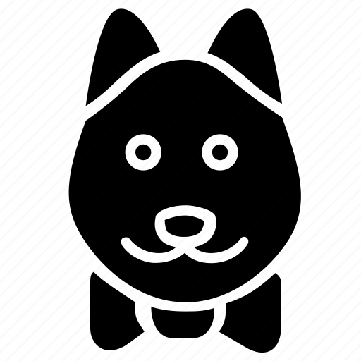 animal, dog, head, old, pet icon
