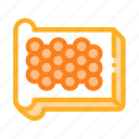 bread, caviar, eggs, piece, sliced icon