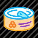 beluga, can, caviar, closed, metallic, tin icon