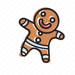 bread, cookie, emoticon, food, ginger, happy, smile icon