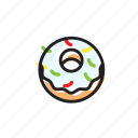 cake, classic, cream, dessert, donut, food, sweet icon