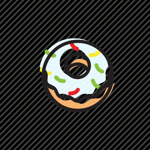 cake, classic, cream, dessert, donut, food, sweet icon