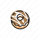 chocolate, classic, cream, dessert, donut, food, sweet icon