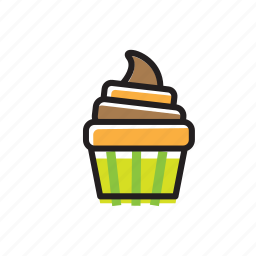 bakery, cake, chocolate, cream, cupcake, party, sweet icon