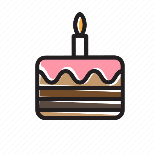 birthday, cake, celebration, dessert, gift, party, tyramisu icon