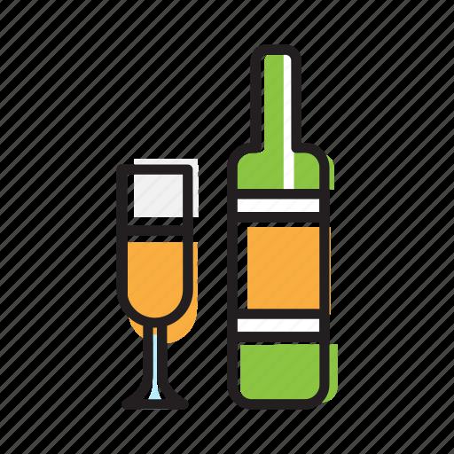 beer, beverage, bottle, cocktail, drink, glass, wine icon