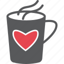 caffeine, happy, loves, red, strong love, valentine, warm icon
