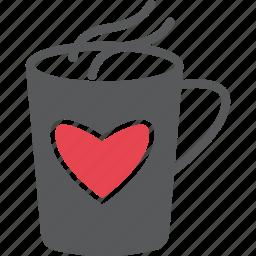 caffeine, happy, loves, red, strong love, valentine, warm icon