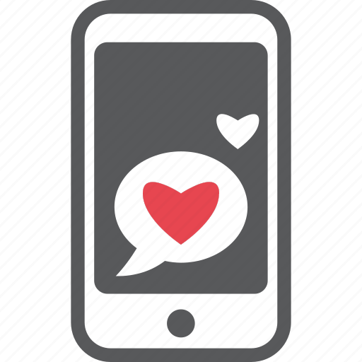 iphone, love, love message, message, mobile, red, valentine icon