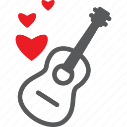 feeling, love, love song, red, romantic, song, valentine icon