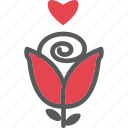 affection, happy, love, red, rose, sweet, valentine icon