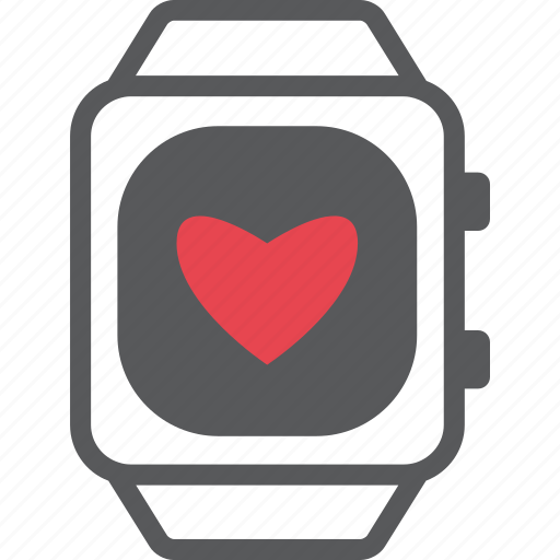 iwatch, love, red, time, time for love, valentine, watch icon
