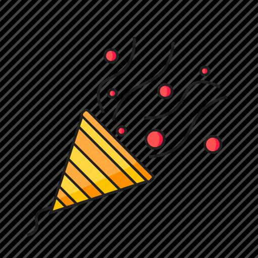 celebration, confetti, party, popper icon