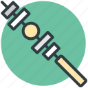 barbecue, food, shashlik, skewer, skewer kebab icon