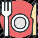 dining, eating, fork, knife, plate, restaurant, tableware