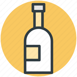 alcohol, bottle, champagne, champagne bottle, drink bottle, wine bottle icon