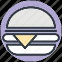burger, fast food, hamburger, junk food