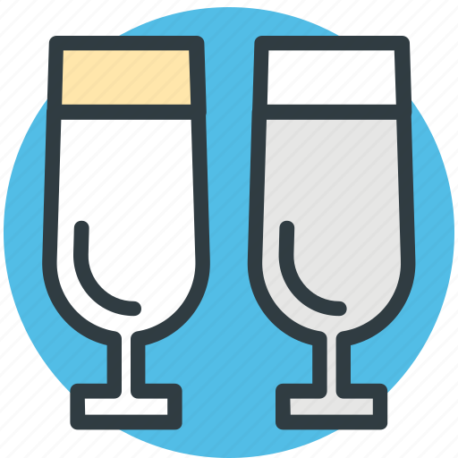 alcohol, champagne glasses, drinks, wine, wine glasses icon
