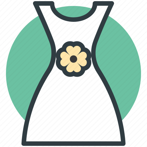 flare dress, frock, party dress, sundress, woman dress icon
