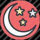 christmas night, moon, night, sky, star