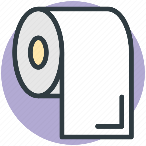 bathroom, cleaning paper, paper roll, tissue paper, tissue roll, toilet paper icon
