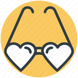 eyeglass, glasses, heart glasses, spectacles, sunglasses icon