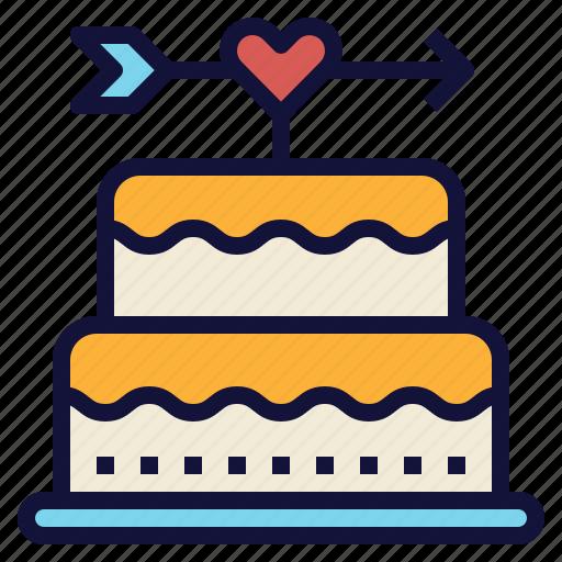 birthday, cake, celebration, love, valentine, wedding icon