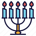 candles, decoration, holder, stand, stick icon