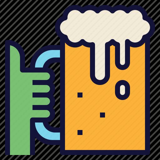 beer, celebration, cheers, drink, glass, mug icon