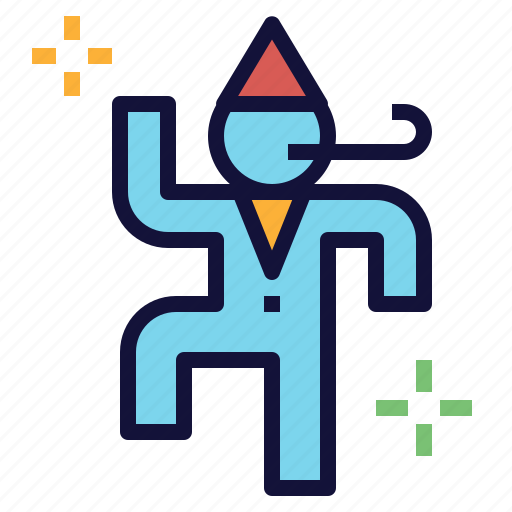 celebration, dancing, exercise, happy, party icon