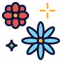 beautiful, blink, decoreation, flower, plant icon