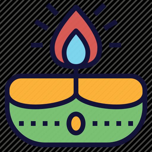 celebrate, depam, diwali, lamp, light icon