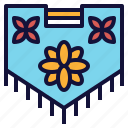 decoration, display, flag, floral, petal, team icon