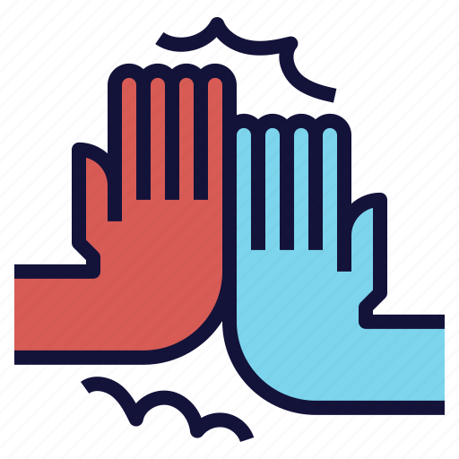 clap, five, greeting, hands, high icon