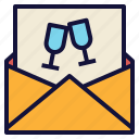 card, invitation, invite, letter, party icon